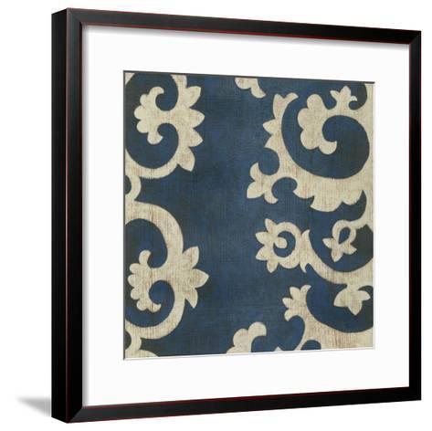 Indigo Suzani IV-Chariklia Zarris-Framed Art Print