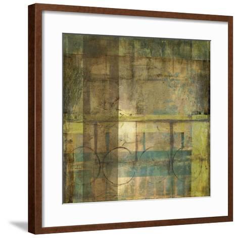 Guilded Turquoise I-Jennifer Goldberger-Framed Art Print