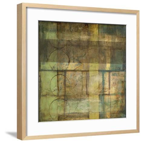 Guilded Turquoise II-Jennifer Goldberger-Framed Art Print