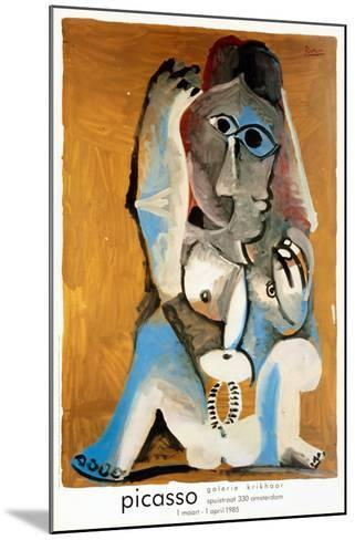 Femme Accroupie-Pablo Picasso-Mounted Collectable Print
