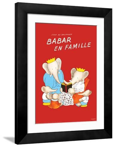 Babar en Famille-Jean de Brunhoff-Framed Art Print
