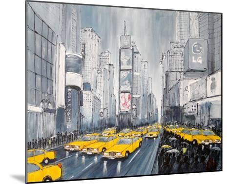 Rainy Day New York-Geoff King-Mounted Giclee Print