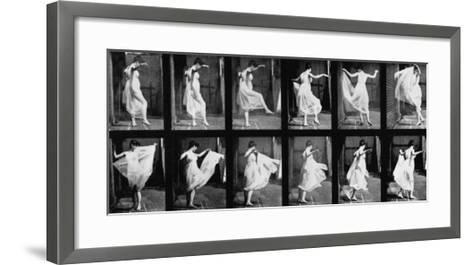 Dancing Girl, 1887-Eadweard Muybridge-Framed Art Print