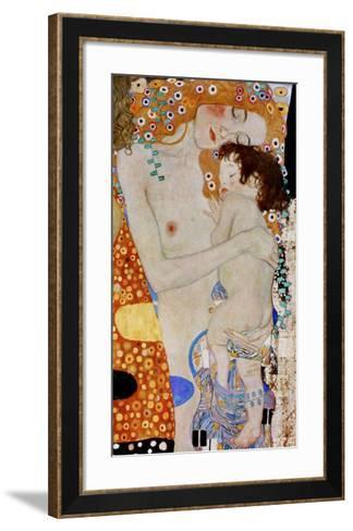 The 3 Ages of Woman (detail)-Gustav Klimt-Framed Art Print