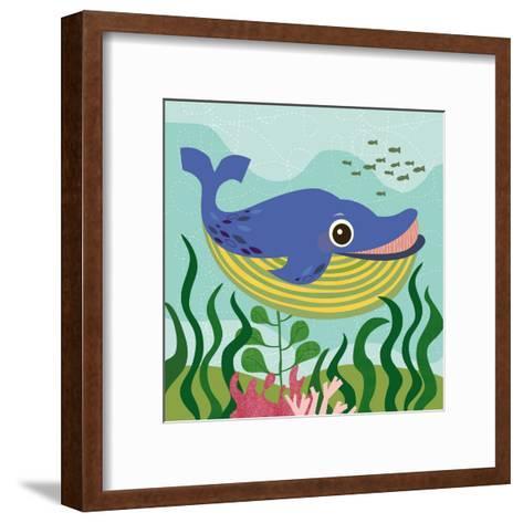 Ocean Friends, Walter-Jenn Ski-Framed Art Print