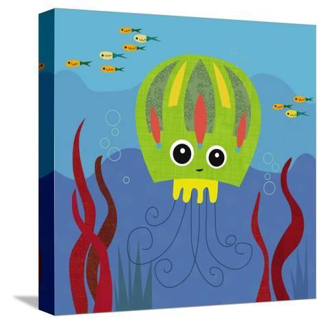 Ocean Friends, Jenny-Jenn Ski-Stretched Canvas Print