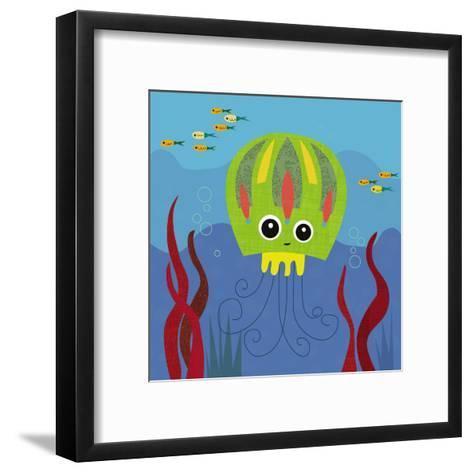 Ocean Friends, Jenny-Jenn Ski-Framed Art Print