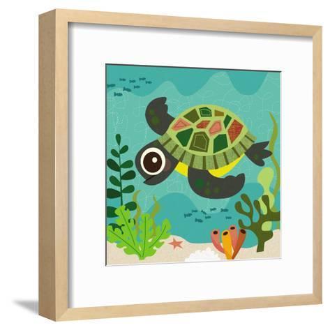Ocean Friends, Terrance-Jenn Ski-Framed Art Print