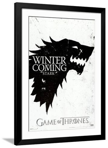 Game of Thrones - Winter is Coming - House Stark--Framed Art Print