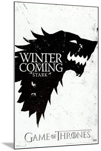 Game of Thrones - Winter is Coming - House Stark--Mounted Poster