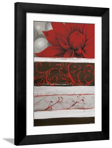 Sumptuous Red-Jasmine Zara Copley-Framed Art Print