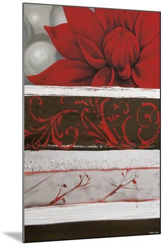Sumptuous Red-Jasmine Zara Copley-Mounted Art Print