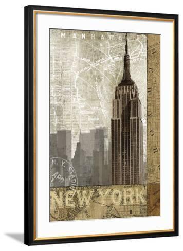 Autumn in New York-Keith Mallett-Framed Art Print
