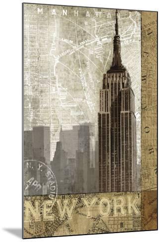 Autumn in New York-Keith Mallett-Mounted Art Print