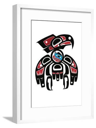 Hawk with Human Inside-Joe Mandur Jr^-Framed Art Print