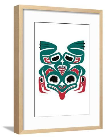 Frog with a Heart-Joe Mandur Jr^-Framed Art Print
