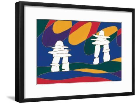 Inukshuk I-Dawn Oman-Framed Art Print