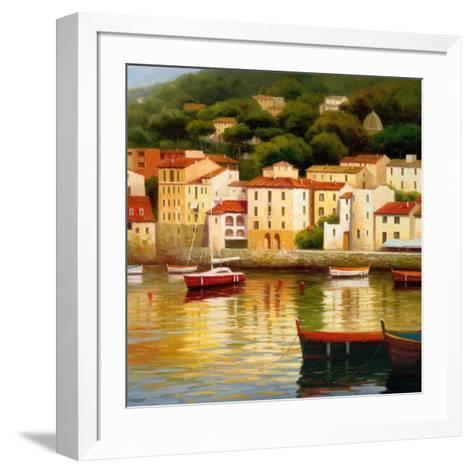 Le Vieux Port-Stu Brity-Framed Art Print