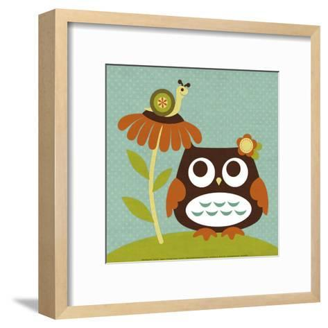 Owl Looking at Snail-Nancy Lee-Framed Art Print