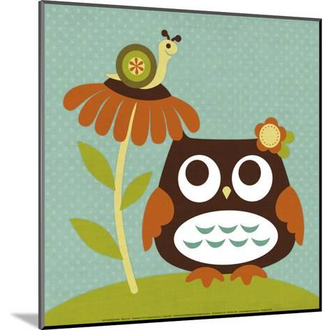 Owl Looking at Snail-Nancy Lee-Mounted Art Print