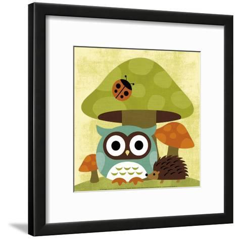 Owl and Hedgehog-Nancy Lee-Framed Art Print