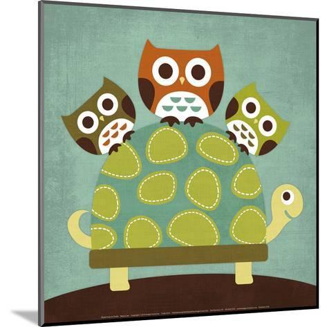 Three Owls on Turtle-Nancy Lee-Mounted Art Print