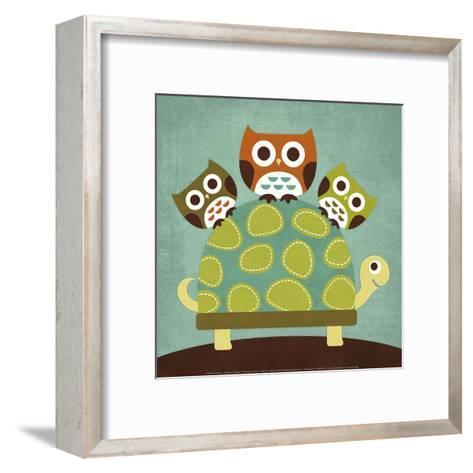 Three Owls on Turtle-Nancy Lee-Framed Art Print