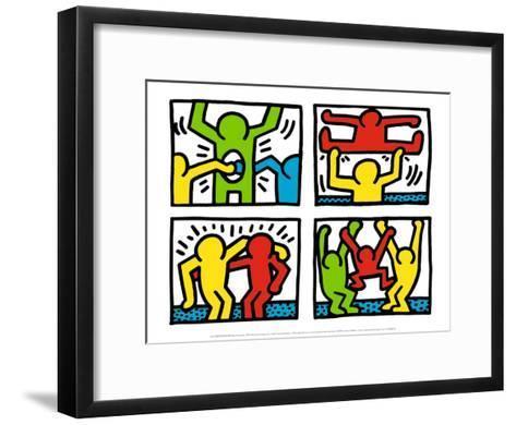 Pop Shop Quad I, c.1987-Keith Haring-Framed Art Print