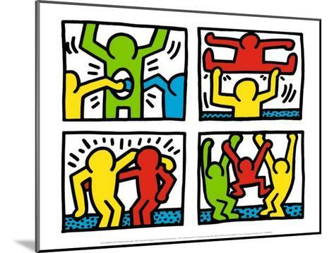 Pop Shop Quad I, c.1987-Keith Haring-Mounted Art Print