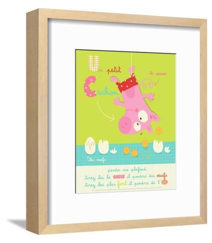 Un Petit Cochon-Isabelle Jacque-Framed Art Print