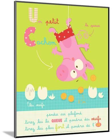 Un Petit Cochon-Isabelle Jacque-Mounted Art Print