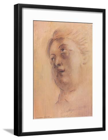 Antique Portrait II-Lewman Zaid-Framed Art Print