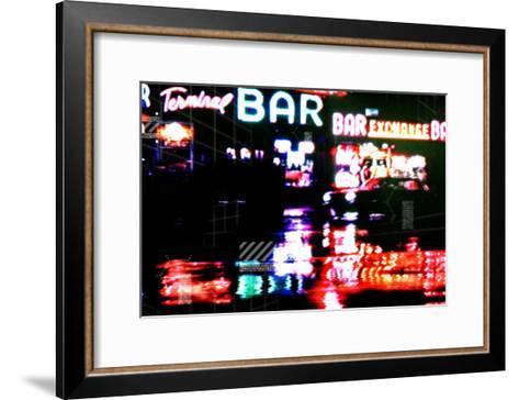 City Taxi II-Jean-Fran?ois Dupuis-Framed Art Print