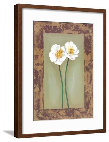 Flowers In Brown Frame II-Ferrer-Framed Art Print