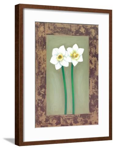 Flowers In Brown Frame III- Ferrer-Framed Art Print