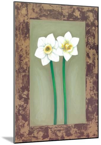 Flowers In Brown Frame III- Ferrer-Mounted Art Print
