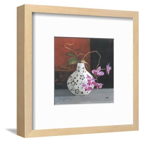 Jarrones Con Flores Malva I-Cano-Framed Art Print