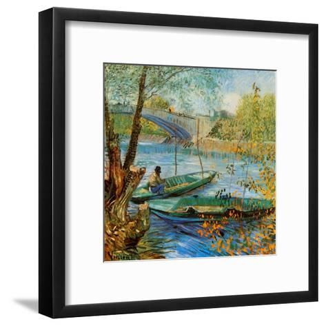 La Pêche Au Printemps, Pont De Clichy-Vincent van Gogh-Framed Art Print