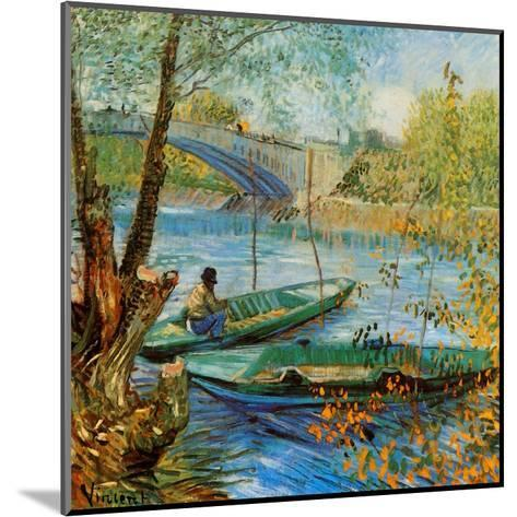 La Pêche Au Printemps, Pont De Clichy-Vincent van Gogh-Mounted Art Print