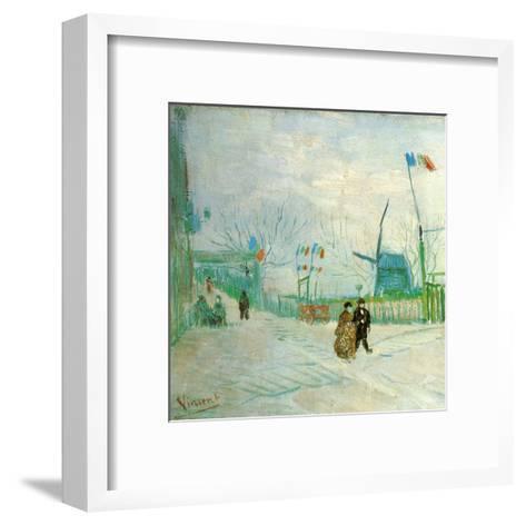 Le Moulin A Poivre (Détail 1)-Vincent van Gogh-Framed Art Print