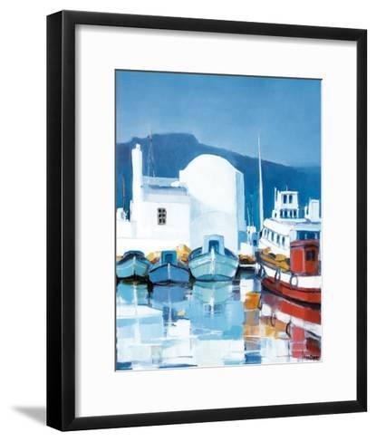 Le Port Des Cyclades-Silvio Magni-Framed Art Print