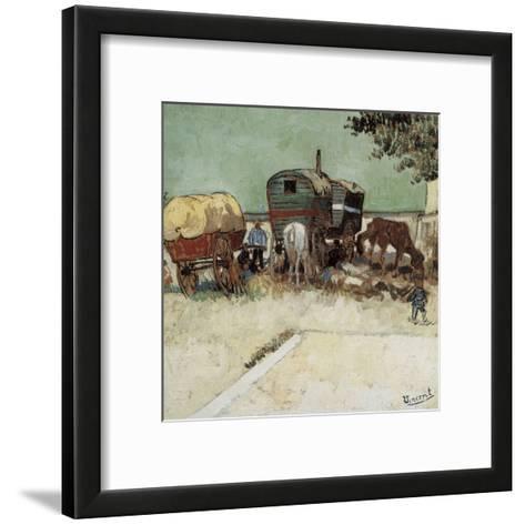 Les Roulottes, Campement De Bohémiens-Vincent van Gogh-Framed Art Print