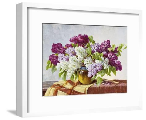Lilac-E^ Kruger-Framed Art Print