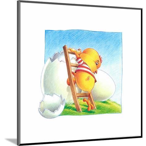 Little Chicken-Urpina-Mounted Art Print