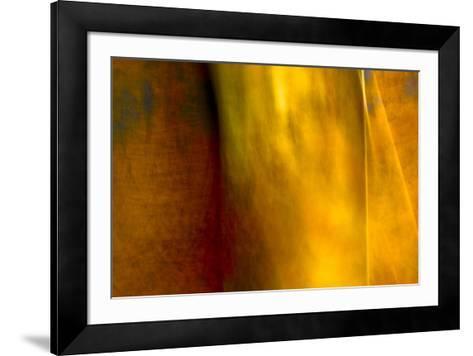 Orange Abstract-Jean-Fran?ois Dupuis-Framed Art Print