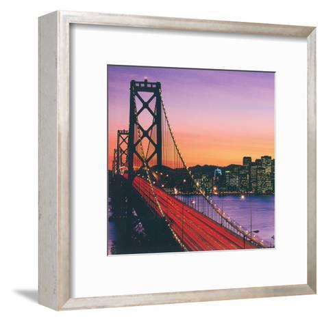 Over The Hudson River II--Framed Art Print