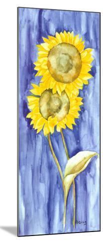 Sunflower Triptych I-Evol Lo-Mounted Art Print