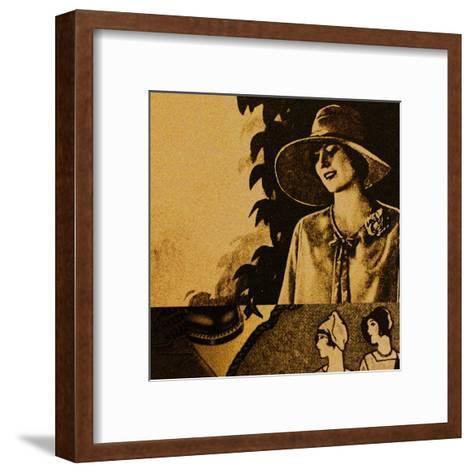 Vintage Womenwear 1925 II (Yellow)-Jean-Fran?ois Dupuis-Framed Art Print