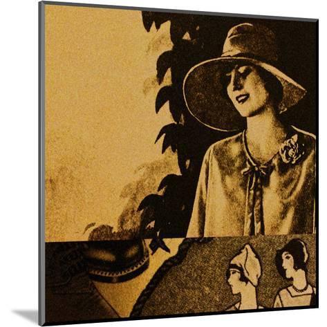 Vintage Womenwear 1925 II (Yellow)-Jean-Fran?ois Dupuis-Mounted Art Print