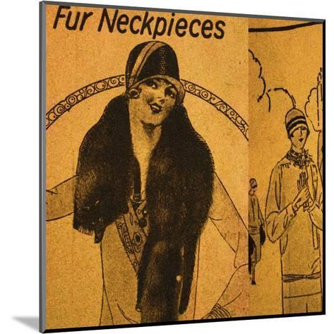 Vintage Womenwear 1925 III (Yellow)-Jean-Fran?ois Dupuis-Mounted Art Print